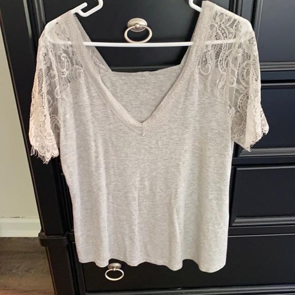 Light gray lace shirt